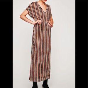 Zara Trafaluc Fall inspired stripe maxi dress